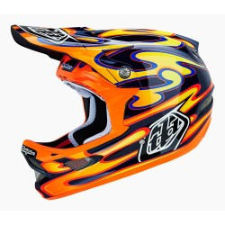 CASQUE TROY LEE DESIGNS D3 SQUIRT CARBONE
